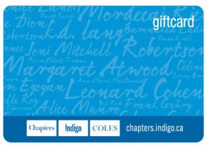 $25 Chapters/Indigo Gift Card
