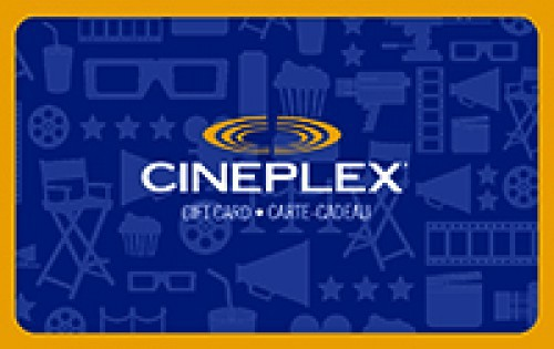 $25 Cineplex Gift Card